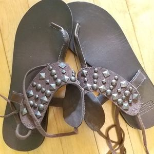 Hollister Leather Sandals